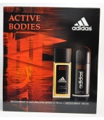 ADIDAS ACTIVE BODIES (ATOMIZER 75ML+ DEO150ML)  ZESTAW