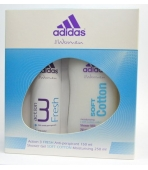 ADIDAS ACTION 3 WOMEN FRESH (DEO+ŻEL)  ZESTAW