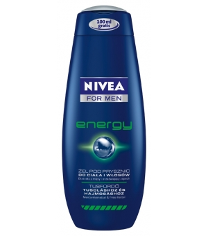 NIVEA ŻEL POD PRYSZNIC 500ML ENERGY FOR MEN (150ML GRATIS)