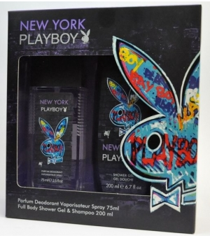 PLAYBOY NEW YORK (ATOMIZER 75ML+ŻEL)  ZESTAW